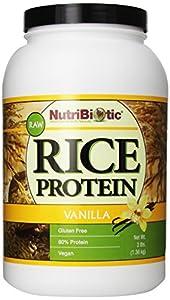 Nutribiotic Rice Protein, Vanilla, 3 Pound