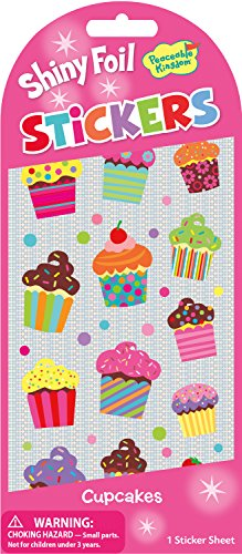 Peaceable Kingdom Shiny Foil Cupcakes Sticker Pack