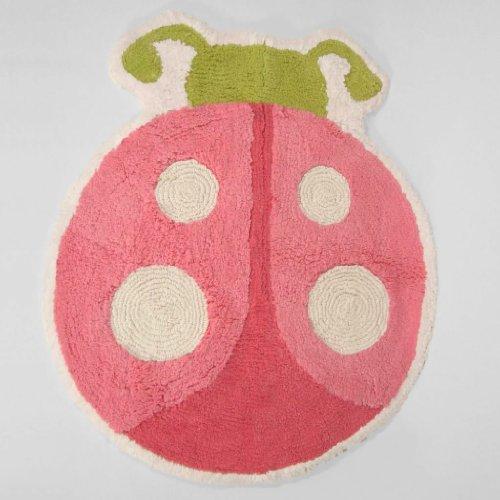 ladybug Garden Rug,Pink - 1