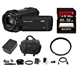 Panasonic HC-VX981K 4K Ultra HD Camcorder with Sony Memory Card & Focus Accessory Bundle (32GB Basic Kit)