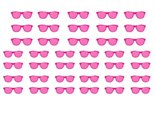 Facile a utiliser d'art d'ongle transfert autocollants Sunglasses / Lunettes de Soleil
