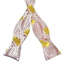 Mens Self Bow Tie Floral Jacquard Woven Silk Bow Ties