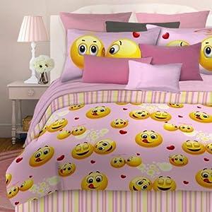 Amazon.com - Emoji 736425496707 Emoji Comforter Set - Pink Multi -