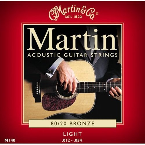 Martin 80/20 Acoustic Guitar Strings – Bronze Wound (Light, .012 – .054)