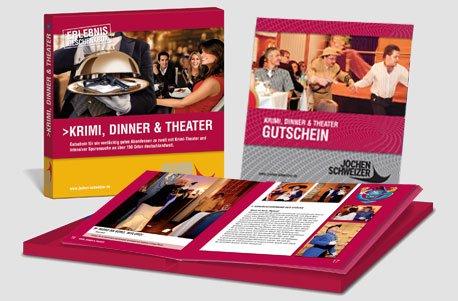 Erlebnis-Geschenkbox 'Krimi, Dinner & Theater für 2'