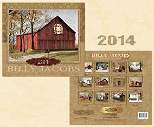 Calendar 2014 - Billy Jacobs - Primitive Rustic Americana Country Life Scenes Wall Calendar