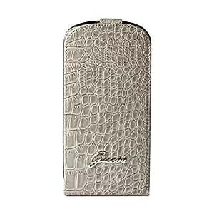 Guess GUFLS3MCRB Etui à rabat en simili cuir pour Samsung Galaxy S3 Mini Effet Croco Beige