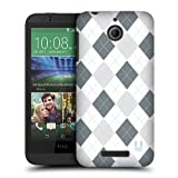 Head Case Designs Black and White Argyle Protective Snap-on Hard Back Case Cover for HTC Desire 510