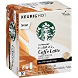 Starbucks Caramel Caffe Latte Specialty Coffee Beverage K-Cups 8.8 oz. Box
