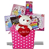 Disney Princess Get Well Gift Basket for Girls Candy and Activities