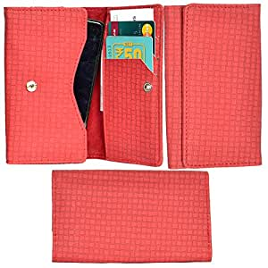 R&A Pu Leather High Quality Wallet Pouch Case Cover With Card Slot & Note Slots,Soft Inner Velvet For HTC Desire 501