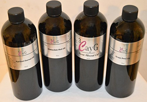 variety-oil-kit-includes-four-16oz-each-of-apricot-kernal-oil-pistachio-nut-sweet-almond-grape-seed-