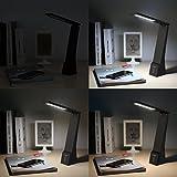 AUKEY-4W-LED-Schreibtischlampe-Touch-Dimmbar-mit-USB-Kabel-Akku-und-USB-Output-Wiederaufladbar-Tragbar-Mini-3-Helligkeitsstufen-und-3-Lichtfarben-Schreibtischleuchte-Leselampe-Schwarz-LT-ST5