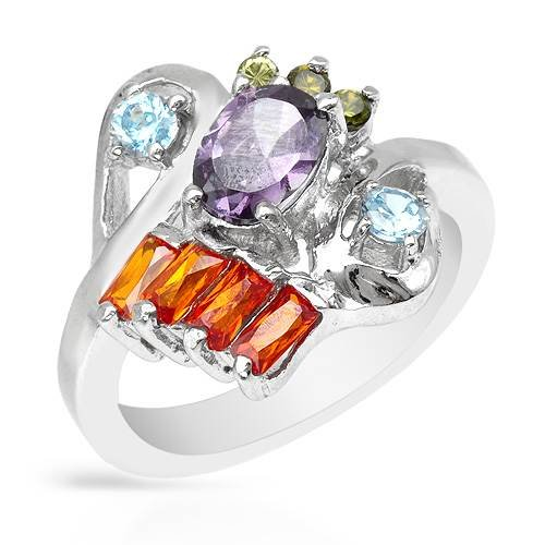 Ring With 3.80ctw Cubic zirconia Made of 925 Sterling silver. Total item weight 5.6g (Size 6.5)