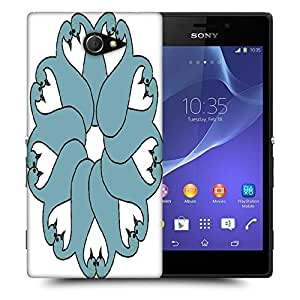 Snoogg floral peacock faces Designer Protective Back Case Cover For Sony Xperia M2