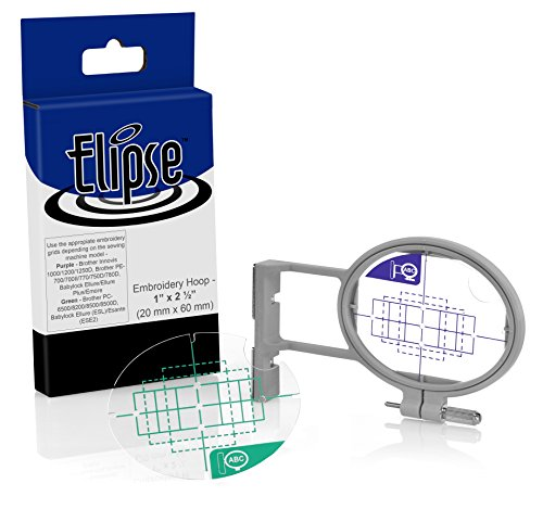 Elipse 1.5-inch x 2-inch Pocket Embroidery Hoop SA442 w/ Placement Grids for Brother PE-700/700II/750D/770/780D, Innovis 1000/1200/1250D, PC-6500/8200/8500 And Babylock Ellure, Emore and Esante (Elipse Embroidery Hoops Pe770 compare prices)