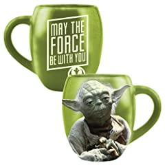"Star Wars 18 oz Ceramic Yoda ""May The Force Be With You"" Mug"