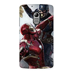Ajay Enterprises Wo Genius Vs Captain Back Case Cover for Lenovo K4 Note