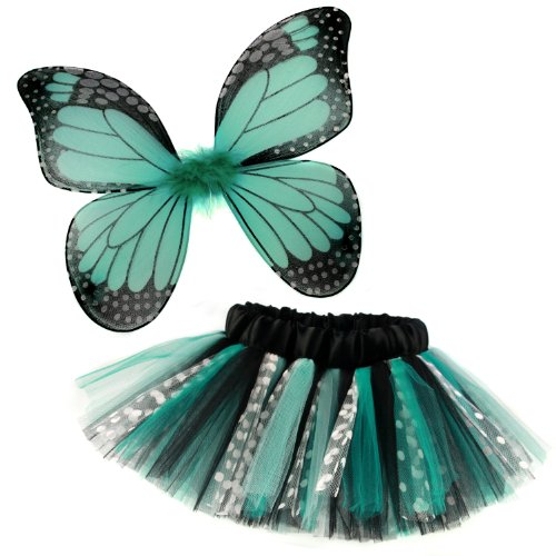 Rockstar Tutu Girl's Butterfly Tutu and Wings Costume Set