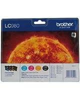 Brother LC980VALBP Cartouche d'encre d'origine 1 x noir, jaune, cyan, magenta boîtier rigide