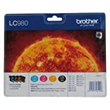 "Brother LC980VALBP Tintenpatrone, Multipack, schwarz/cyan/magenta/gelbvon ""Brother"""