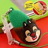 ディズニー×文原聡(ゴールデンエッグス)★キュービックマウス★パペクリーン携帯ストラップ(デール)DIZ-4-04(緑)