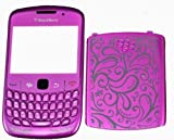 New Replacement Flower Full Housing for BlackBerry Curve 8520 Rose Dark Purple UK