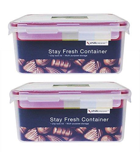 Home, Furniture & DIY Sistema Klip It Food Round Storage Container 2.2L Clips Freeze Fridge Microwave Food & Kitchen Storage Equipment
