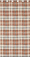 "Edinburgh Tartan Plaid Terracotta Lined 66"" X 72"" - 168cm X 183cm Ring Top Curtains by Curtains"