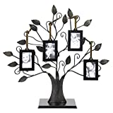 Bronze Family Tree Of Life Picture Holder With Four 2 x 3 inch Frames