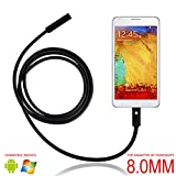 USB Endoscope, eBerry 2 in 1 Micro USB Borescope Waterproof Inspection Snake Camera with LED Rigid-Flexible Endoscope OTG for Android Smart Phones, Tablets & Computer PC Laptop - 5m/16.5ft (F8mm)