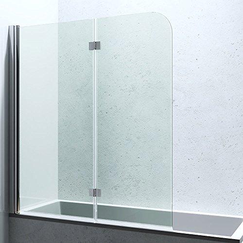 badewannen duschwand cortona1408 bxh 117x141cm aus esg sicherheitsglas in klarglas form rund. Black Bedroom Furniture Sets. Home Design Ideas
