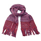 Small Red & Blue Rebozo Scarf