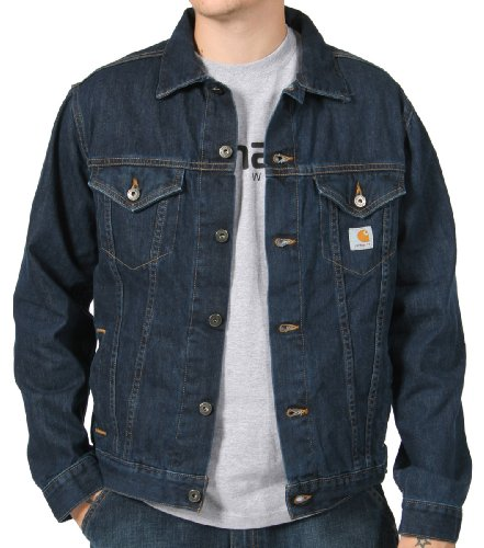 Carhartt - Denim Jean Jacket (Unlined) Mens Work Coat - Blue