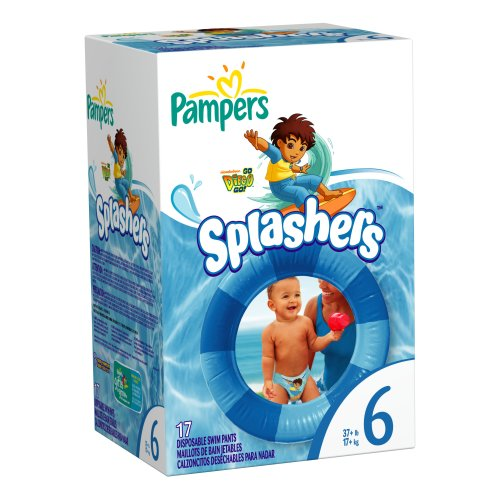 Pampers Splashers Size 6 Diapers 17 Count - 1