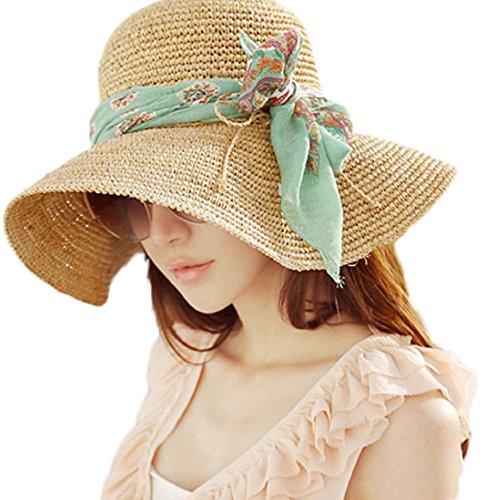 Womens Large Brimmed Garden Beach Big Summer Sun Hat