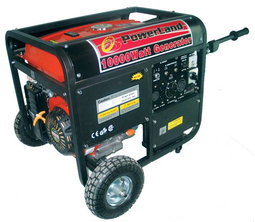 51 KY4BfZnL. SL500  Powerland PD10000E 10,000 Watt 16 HP OHV Gas Powered Portable Generator With Electric Start  &  Wheel Kit (CARB Compliant)