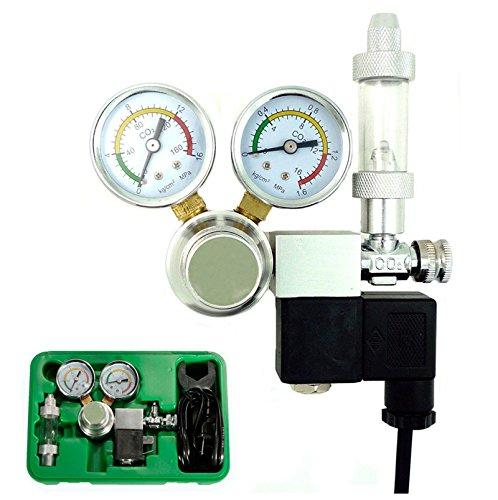 Co2 Equipment Regulator Magnetic Solenoid Two Gauge For Aquarium (Kegerator Connections compare prices)