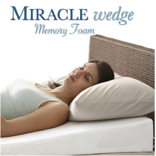 Cheapest Price! Memory Foam Wedge Pillow for Acid Reflux. Visco Wedge Pillow for Gerd, Snoring. 24 ...