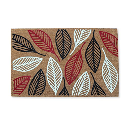 a1-home-collections-first-impression-flocked-doormat-vilfred-leaf-coir-large24-l-x-36-w