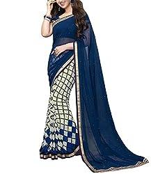 Pehnawa Creation Women's Georgette Saree_9480_Multicolored_Freesize