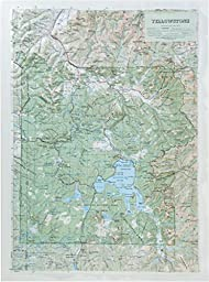 Hubbard Scientific Raised Relief Map 419 Yellowstone National Park