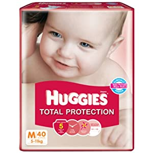 Amazon: Minimum 35% off on Huggies Total Protection Diapers with free shipping