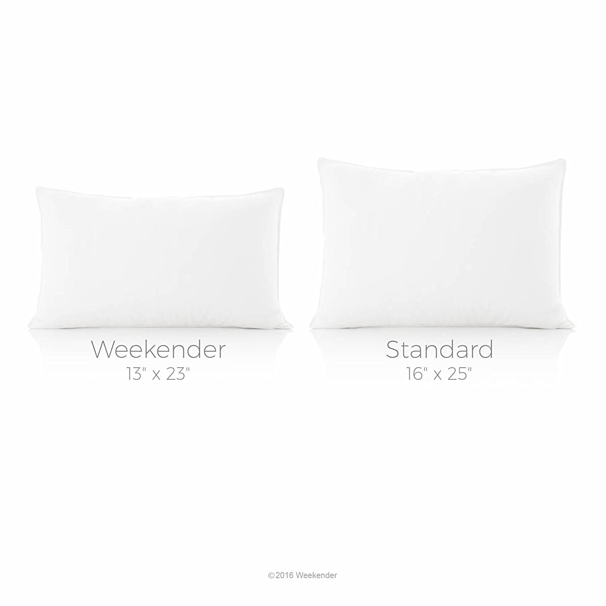 Weekender Down Alternative Pillow with Cotton Cover, Standard (Set of 2)