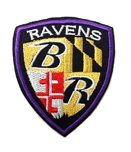 01ca6911893924 NFL Baltimore Ravens Iron on Shield Patch Embroidered 3