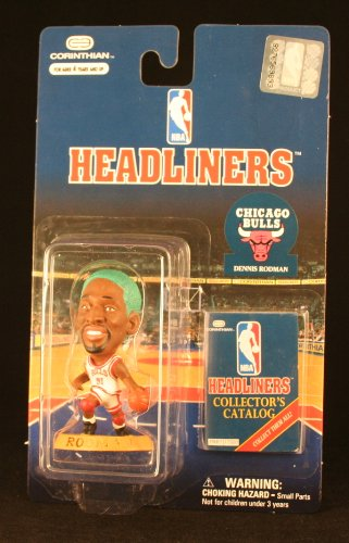 DENNIS RODMAN / CHICAGO BULLS (GREEN HAIR VARIANT) * 3 INCH * NBA Headliners Basketball Collector Figure