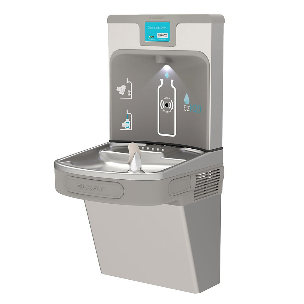 Elkay Ezh2o Next Generation Drinking Fountain With Bottle Filling Station - Light Gray - Light Gray