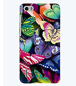 printtech Colorful Butterfly Back Case Cover for Huawei Honor 6