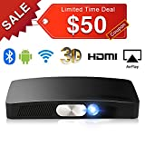 SeeYing Y2 3D Multimedia Home Theater Video Projector, Max 200