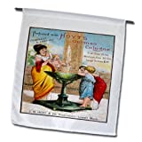BLN Vintage Perfume and Toiletry Labels and Posters - Perfumed with Hoyts German Cologne Lowell, Mass. Woman in Toga with Small Children - 18 x 27 inch Garden Flag (fl_154844_2)